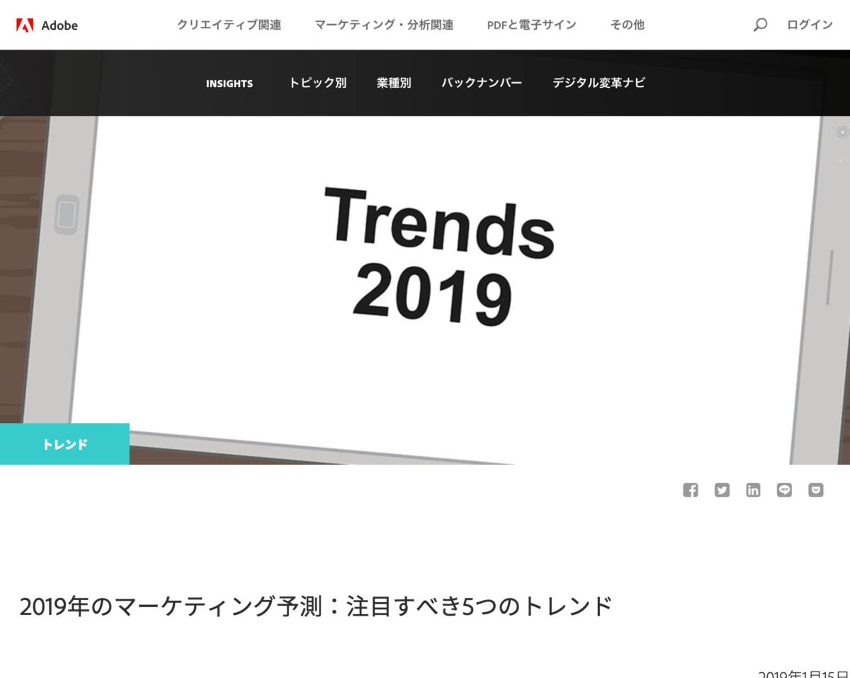 2019年のマーケティング予測:注目すべき5つのトレンド