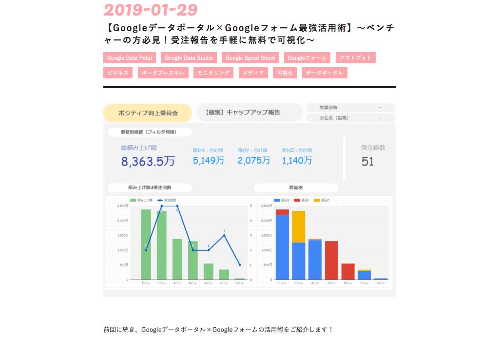 【Googleデータポータル×Googleフォーム最強活用術】~ベンチャーの方必見!受注報告を手軽に無料で可視化~