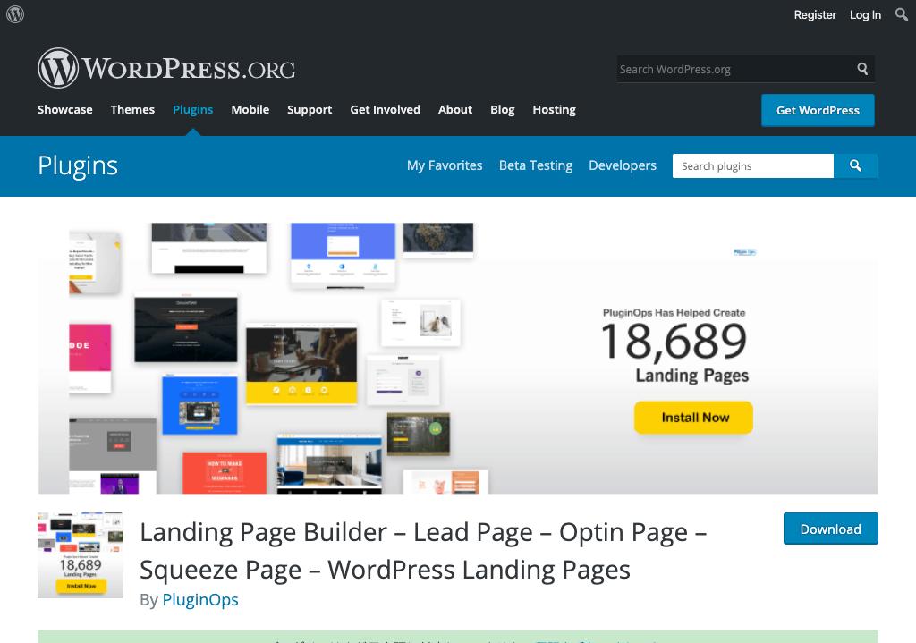 ランディングページ制作プラグイン「Landing Page Builder」