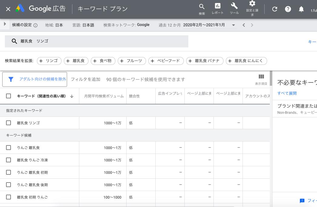 Keyword Planner (Google)